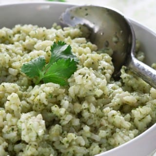 Cilantro rice is the perfect accompaniment to Mexican food. It's great either warm or cold!
