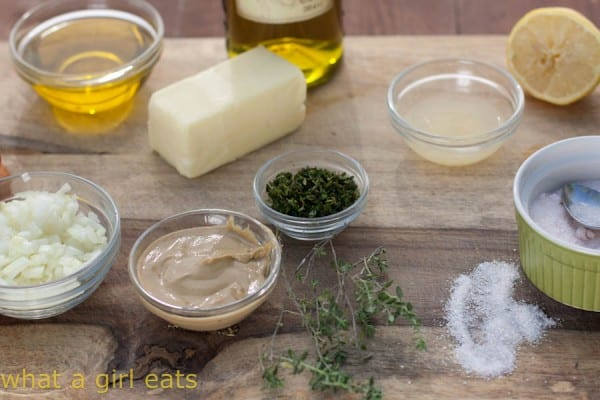 Lemon-Thyme basting sauce for grilled vegetables