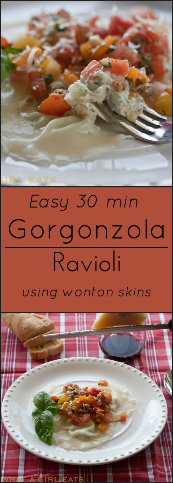Homemade Gorgonzola Ravioli in under 30 minutes!