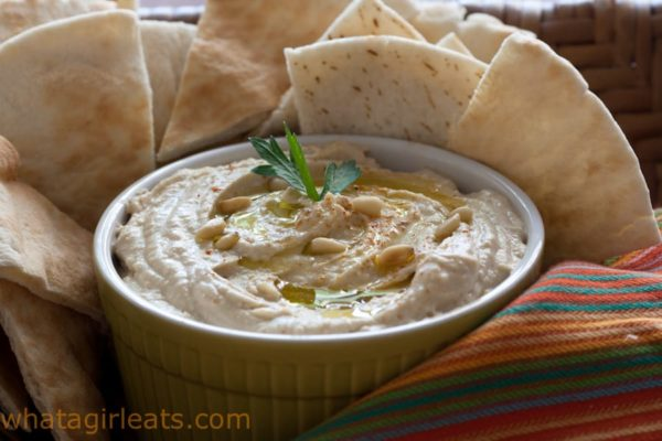 Easy homemade hummus dip is just a few minutes away when you have canned garbanzo beans in your pantry!