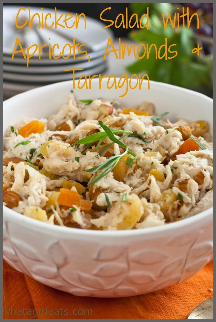 chicken salad with apricots and tarragon pin