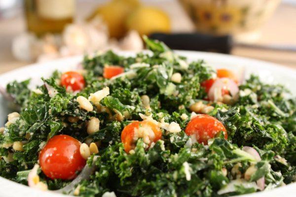Mediterranean Kale Salad.