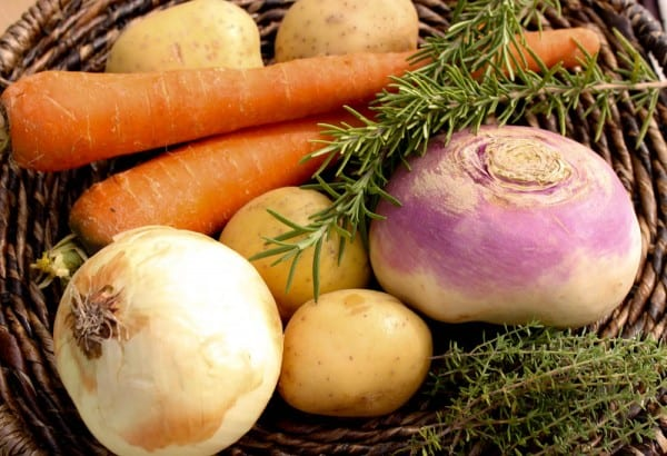 Root vegetables, used for making Guinness beef stew