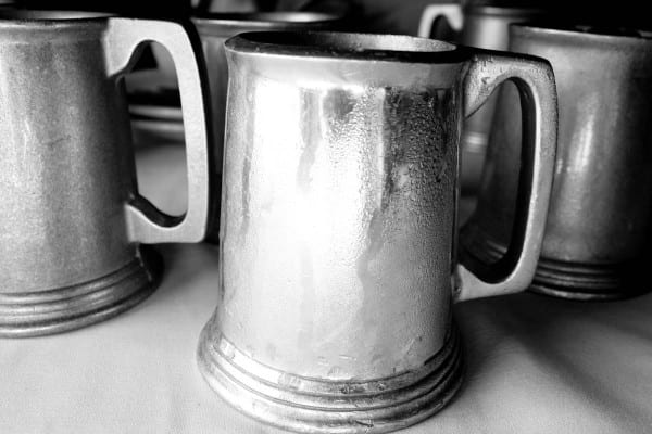 pewter mugs