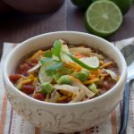Chicken Tortilla Soup {Leftover Chicken Recipe}