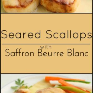 Seared Scallops with Saffron Beurre Blanc is an elegant and easy dinner that's also gluten free.
