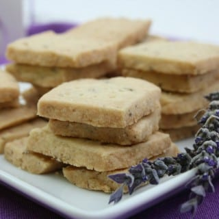 Lavender Shortbread Cookies - Recipe from What a Girl Eats