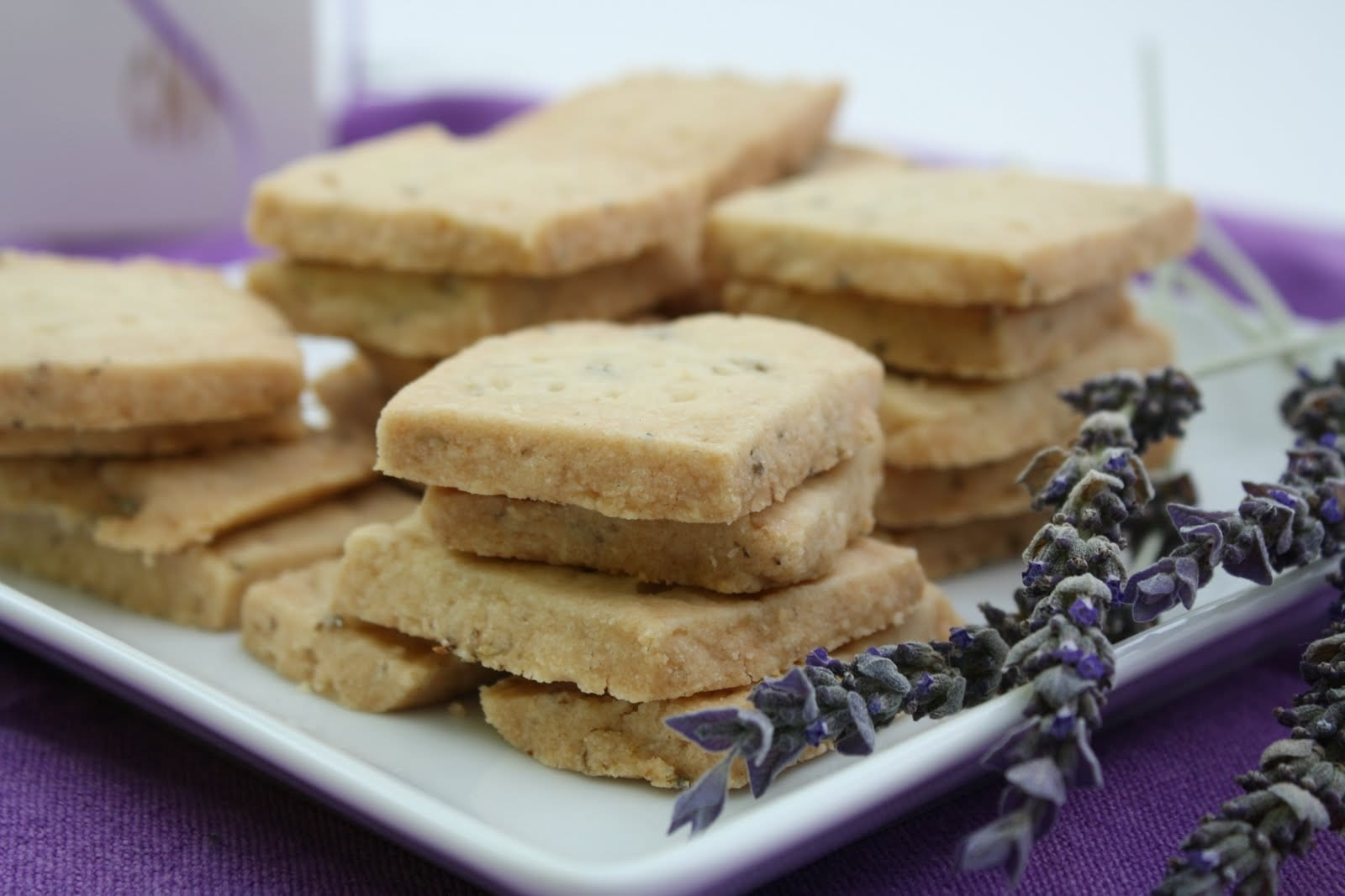 Lavender shortbread cookies have an aroma so sensual, you might fall head over heels in love with them! Get the recipe at What a Girl Eats