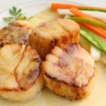Pan Seared Scallops in Saffron Beurre Blanc. @whatagirleats.com