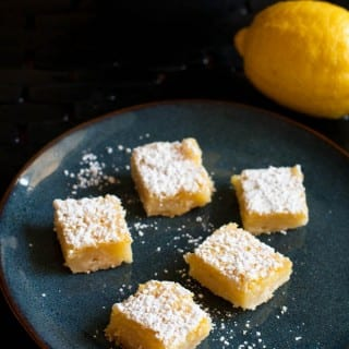 Meyer Lemon Bars | Recipe on WhatAGirlEats.com
