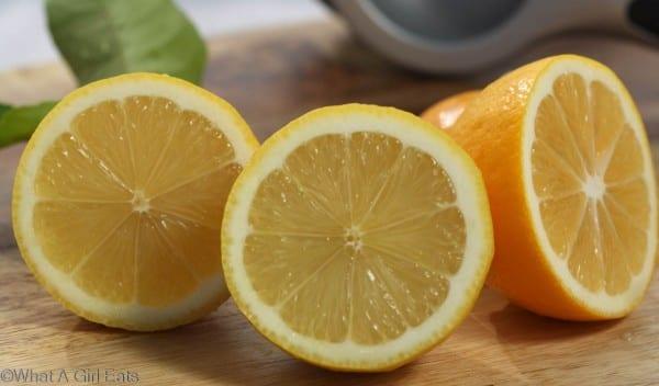 Eureka and Meyer lemons, ready to juice