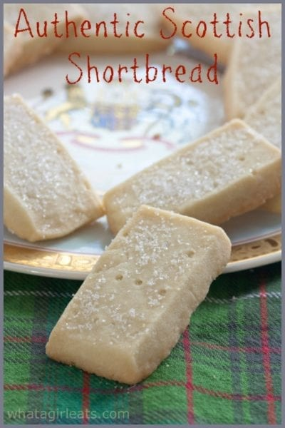 scottish shortbread on a tartan napkin