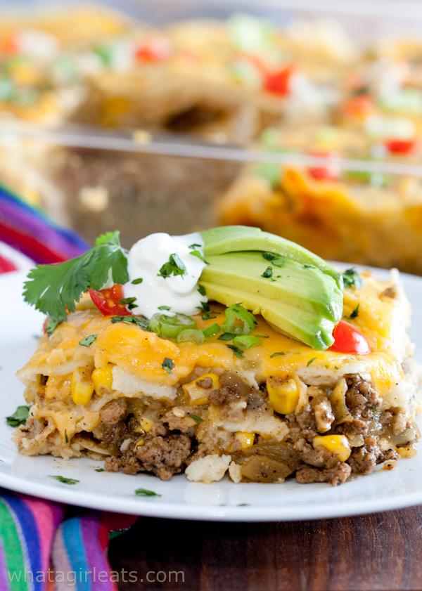 Enchilada casserole with ground turkey