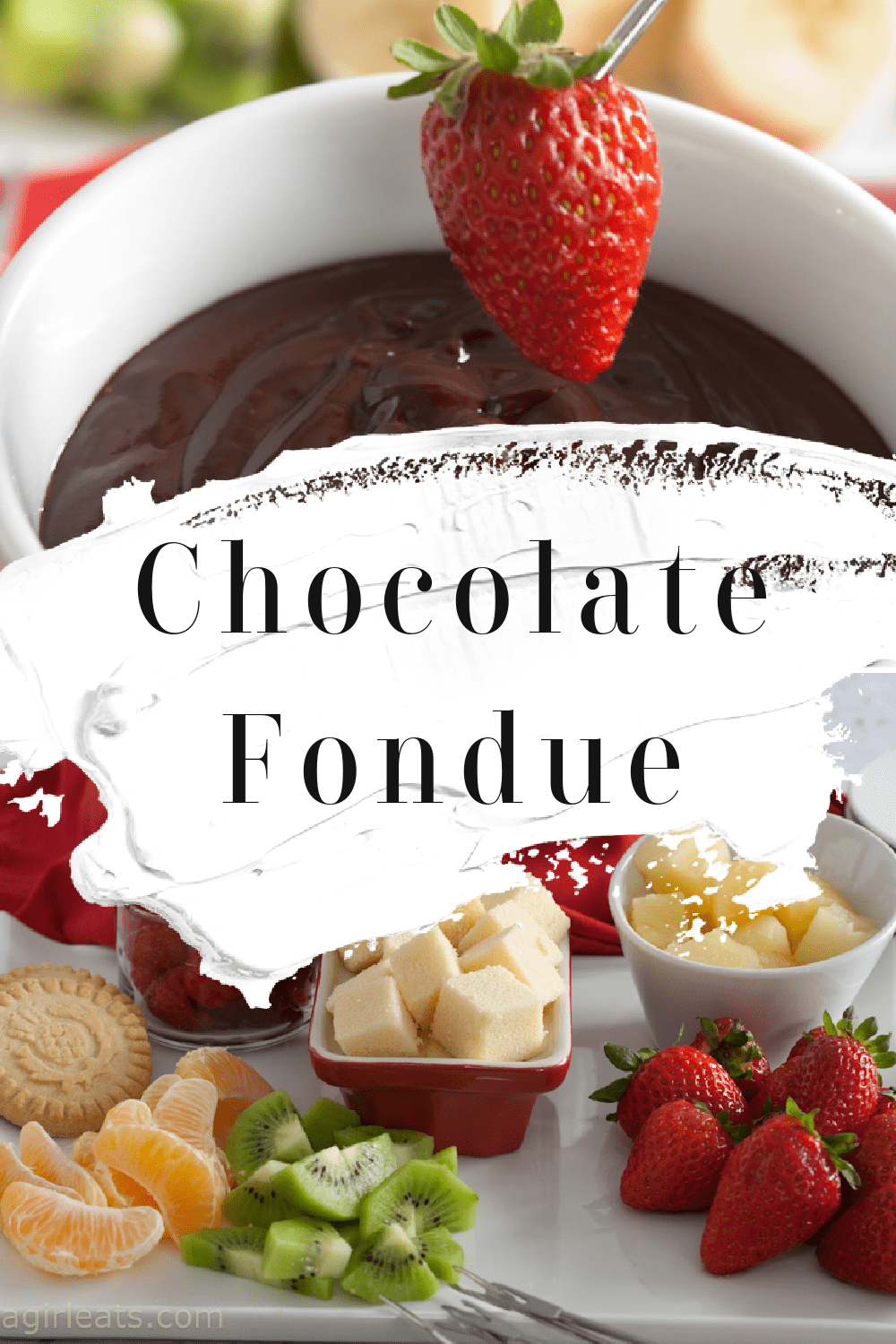 This quick and easy chocolate fondue recipe is perfect for any special occasion! Serve with fresh fruit and pound cake!