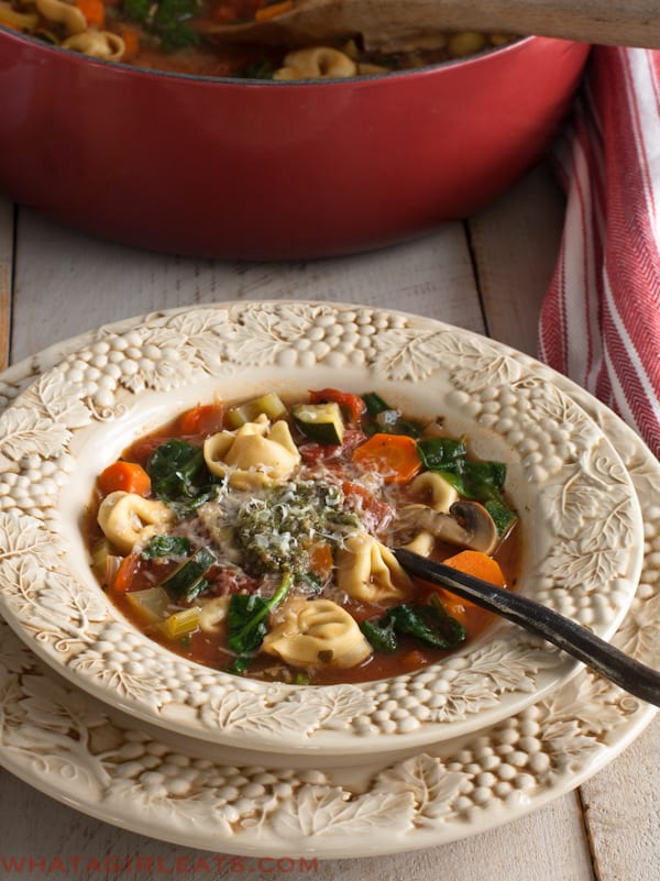 Winter Tortellini Vegetable Soup | What a Girl Eats