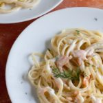 Fettucine with Smoked Salmon and Dill. This fast and easy dish is ready in under 20 minutes!
