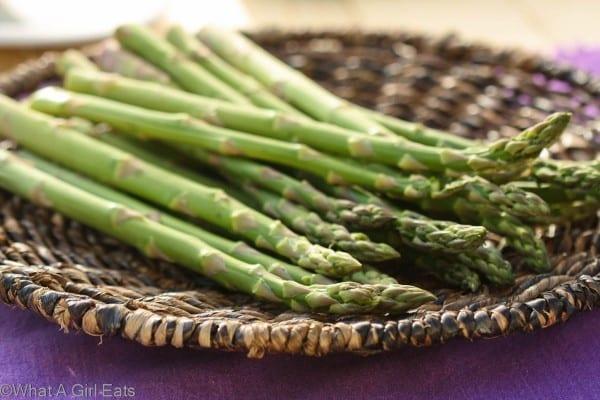 healthy, crisp, fresh asparagus spears