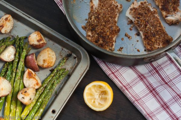 Pecan Crusted Cod Filets | What a Girl Eats