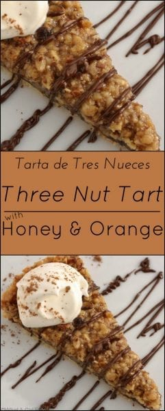Nut tart chocolate honey orange