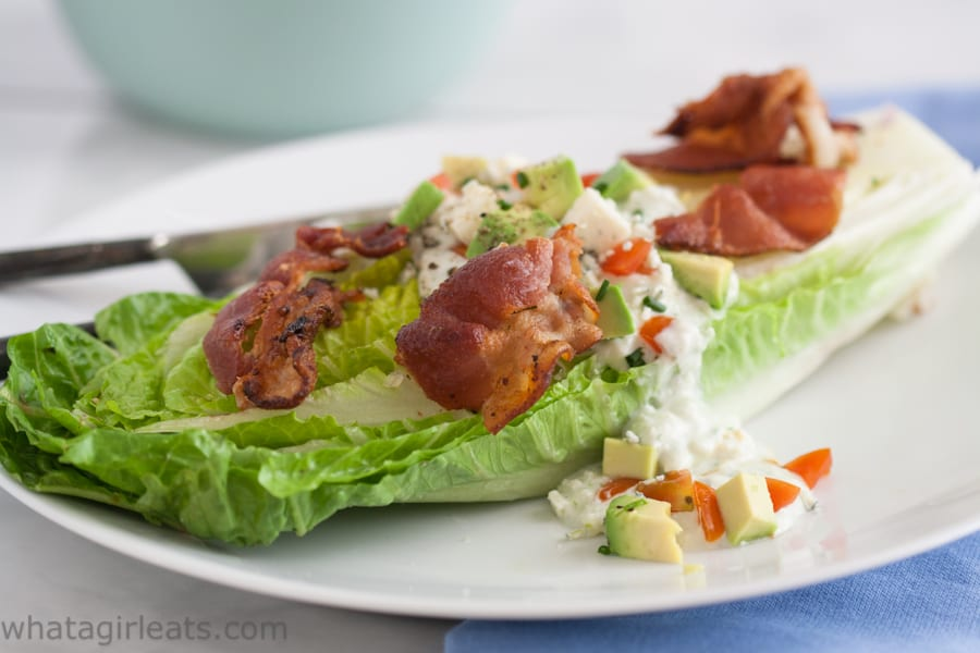 Homemade Blue Cheese Dressing {The BLT Salad} - What A ...