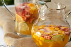 Sangria for the adults.