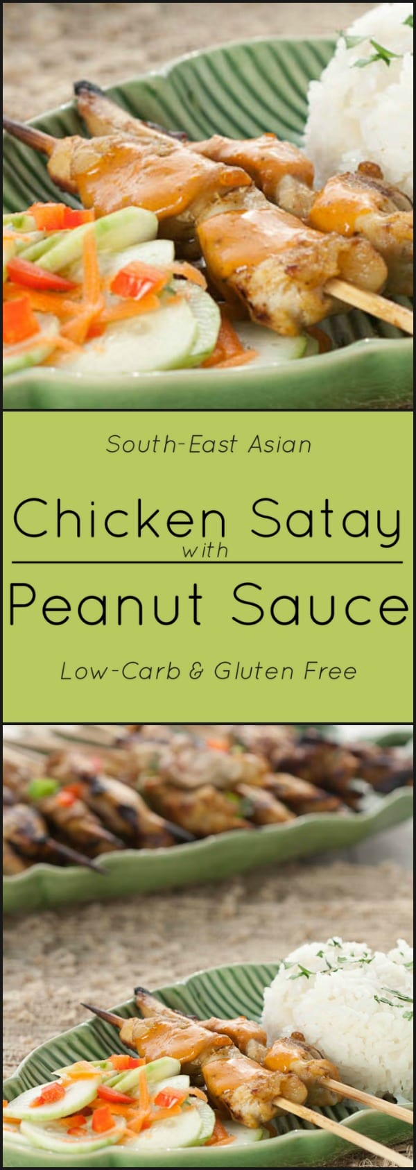 Chicken Satay with Peanut Sauce.