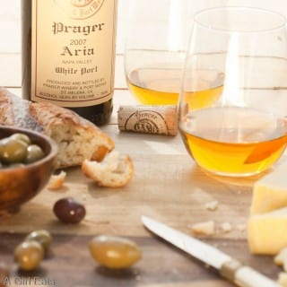 "Prager's ""Aria"" white port as an aperitif."