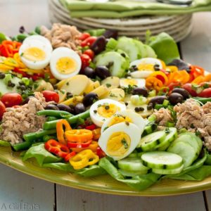 Nicoise Salad or composed salad.