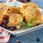 Triple blueberry and cherry handpies