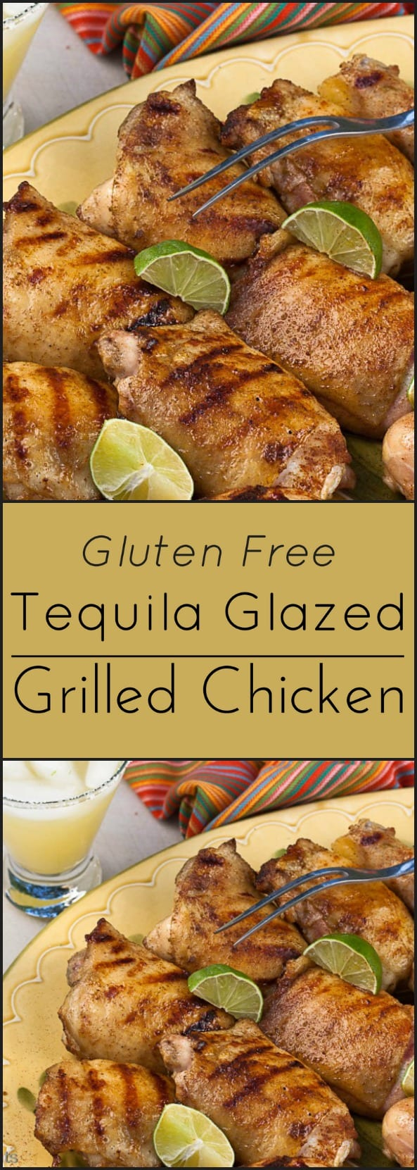 Tequila Glazed Chicken. Low carb and gluten free.