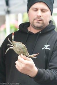 NYC Crab vendor