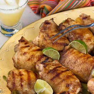 Tequila-Glazed Grilled Chicken Thighs and a Classic 3-2-1 Margarita