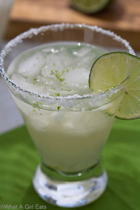 Learn how to make a classic 3-2-1 margarita on WhatAGirlEats.com