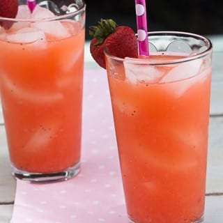 Classic Homemade Lemonade and Strawberry Lemonade