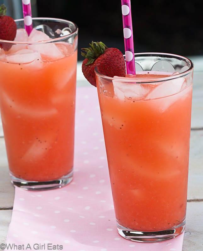 Classic Homemade Lemonade And Strawberry Lemonade