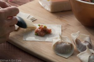 Homemade wonton filling