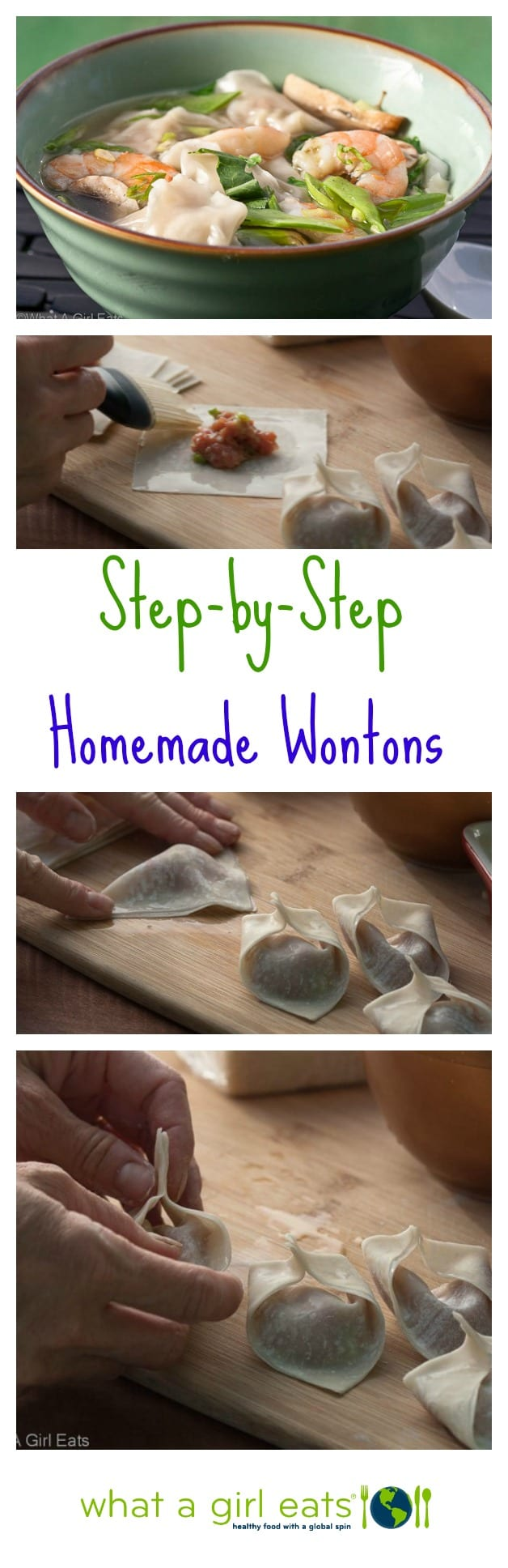 How to make homemade wontons.