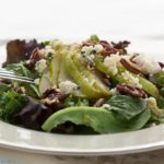 Field Greens with Pears and Gorgonzola and Candied Pecans