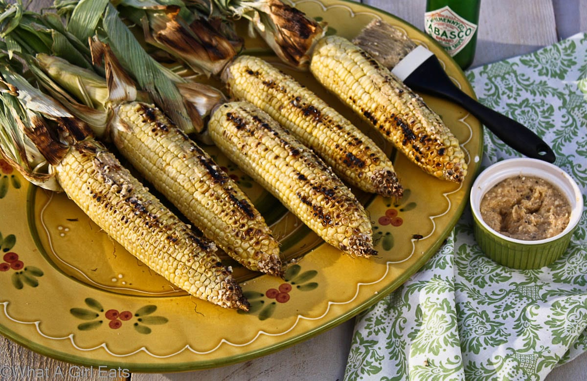 Grilled Corn on the cob with Lime-Chili-Parmesan Butter