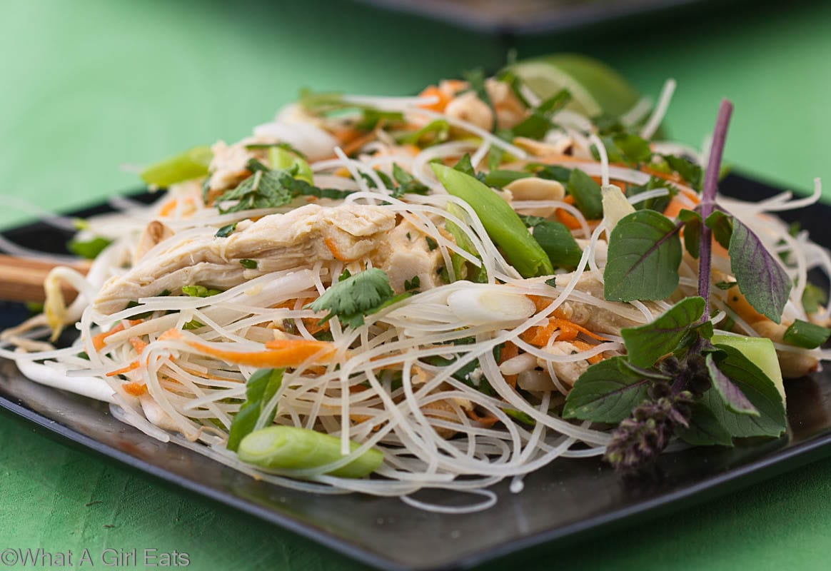 chicken and noodle salad thai glass noodle salad thai style chicken ...