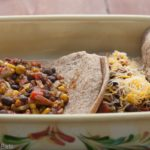 Chipotle Black Bean and Fire-Roasted Vegetable Enchiladas.