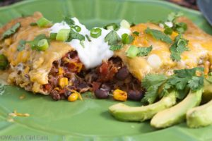 Chipotle Black Bean and Fire-Roasted Vegetable Enchiladas