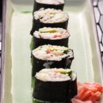 Easy California Rolls - California rolls are a great introduction to eating sushi, because they don't have any raw fish in them! | @whatagirleats