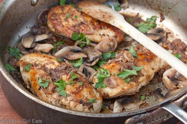 Chicken with Honey-Beer Sauce | @whatagirleats