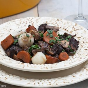 Boeuf bourguignon, also known as burgundy beef, is a rich, hearty beef stew. It is the perfect Sunday supper or meal for any special occasion.