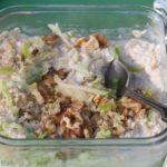 Bircher Muesli Overnight Oats - A healthy, vegan breakfast on the go!   WhatAGirlEats.com