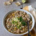 White Chicken Chili - Recipe from WhatAGirlEats.com