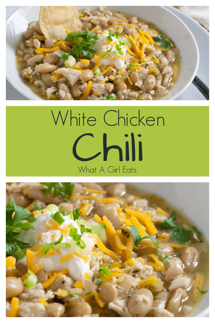 White Chicken Chili is a deliciously easy dish. Ready in under 40 minutes!
