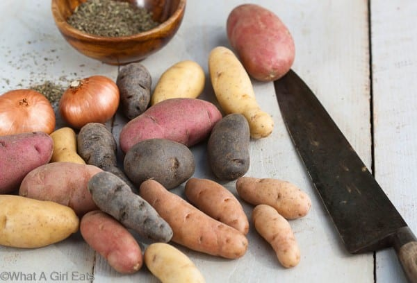 Idaho fingerling potatoes
