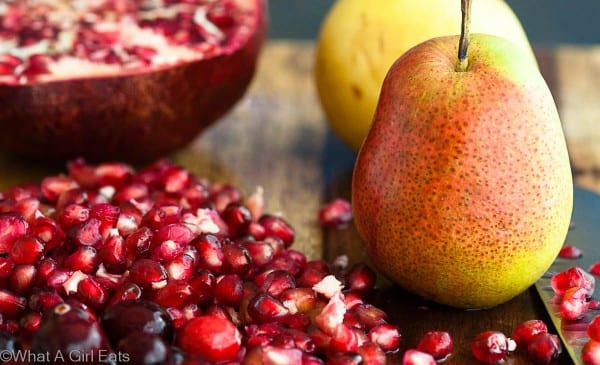 pears and pomegranates
